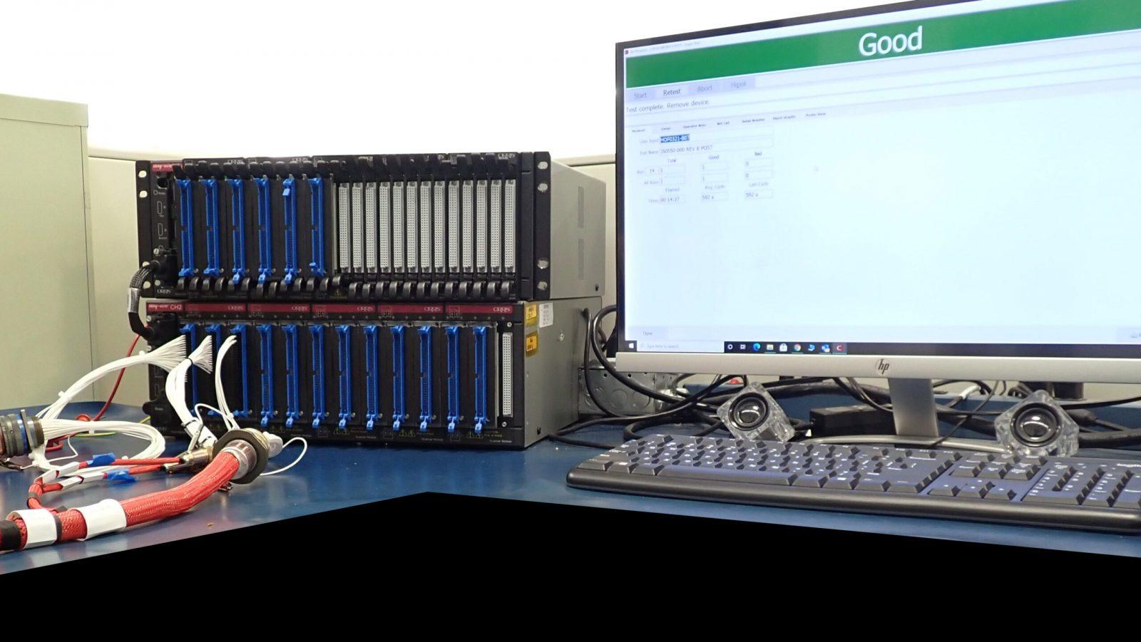 Computer testing screen